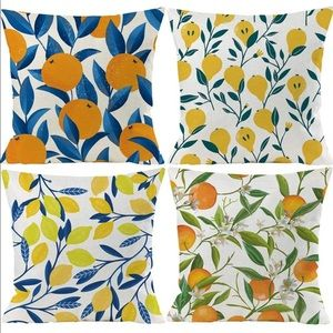 Tropical Fruit Pillow Covers